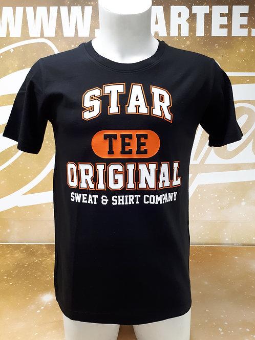 T-shirt men Startee TEE.B blanc.orange