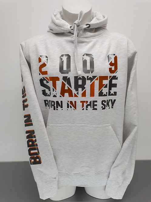 Hoodie men Startee Gris.orange
