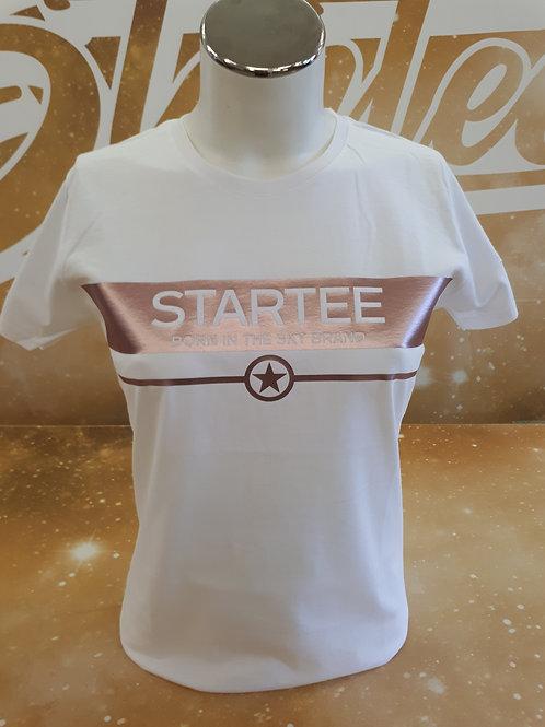 T-shirt women Startee Bande ROSE GOLD