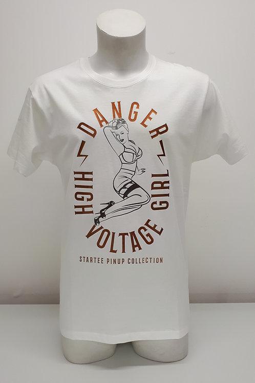"""T-shirt Men Startee """"PinUp Danger Voltage"""".cuivre"""