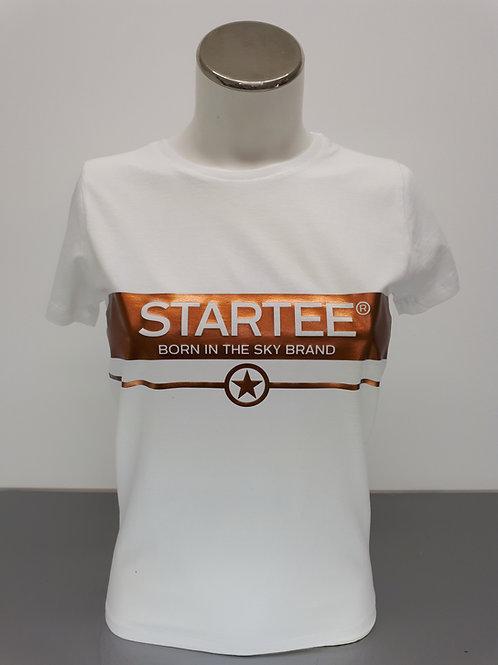T-shirt women Startee Bande cuivre