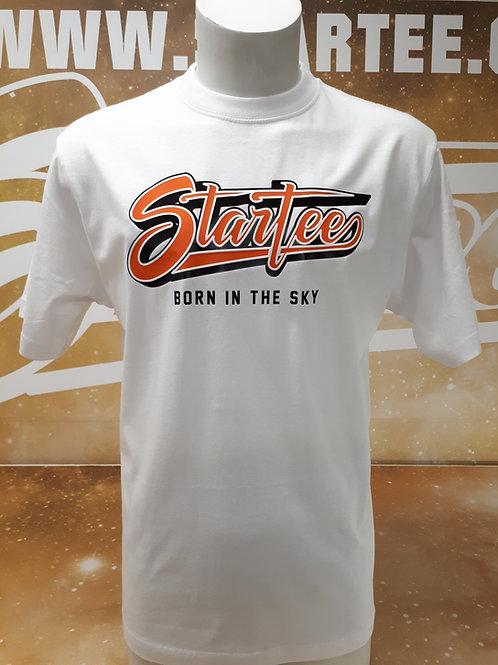 T-shirt men Startee 3D white.orange