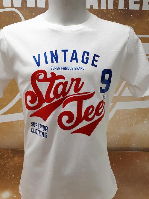 T-shirt men Startee VINTAGE. BLEU.RED