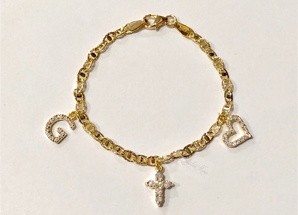 Mini Diamond Charm Bracelet