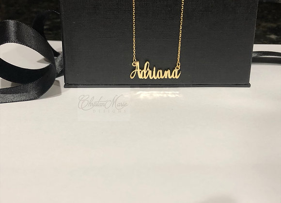 Cursive Mini Name Necklace