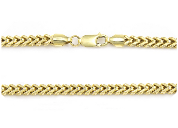 "14K Hollow Franco Chain/Bracelet 7""  From"