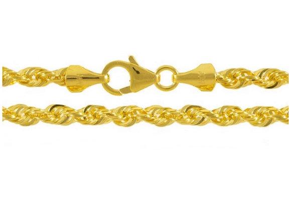 Men's 14k Yellow Gold Rope Chain