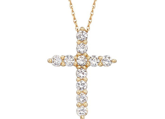 Diamond Cross Pendant & Chain