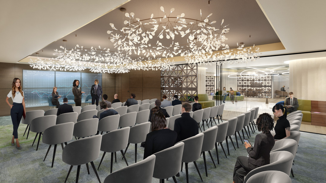 Franklin Square interior  boardroom rendering