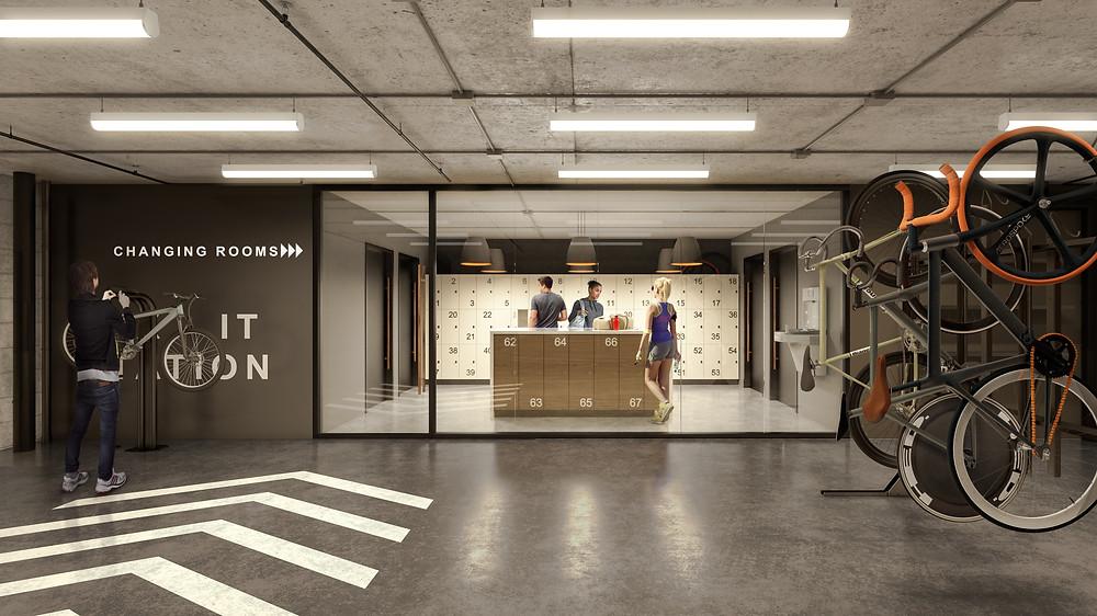 Interior concourse renovation rendering Franklin Square