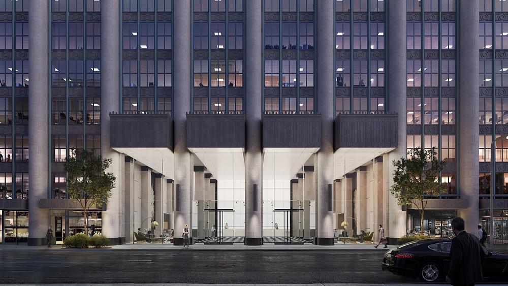 Franklin Square renovation exterior entrance rendering