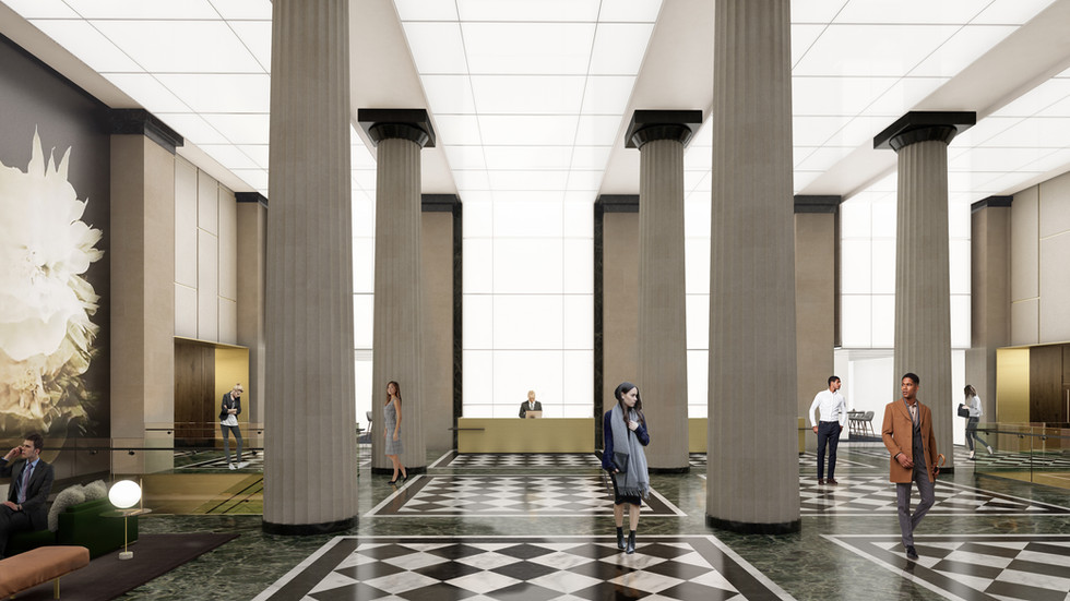 Franklin Square interior lobby rendering