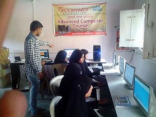 Computer-training-class wockhardt foundation NGO