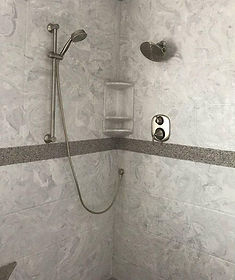 shower walls (gloss, matte, and tile pattern)