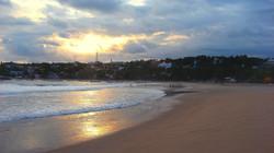 Vista desde playa Zicatela.
