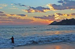 Atardecer en playa Zicatela.