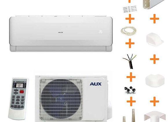 Climatiseur réversible AUX ASW-12-FH 3.5 kW + kit goulottes