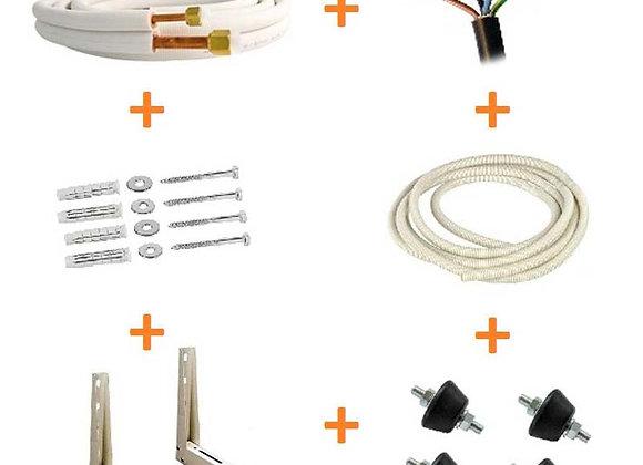 Liaison frigorifique ¼ ⅜ kit complet