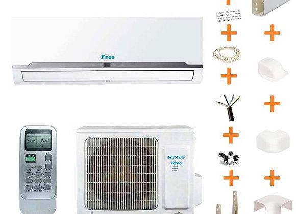 Climatiseur réversible Free Sol'Aire 3.5 kW + kit goulottes