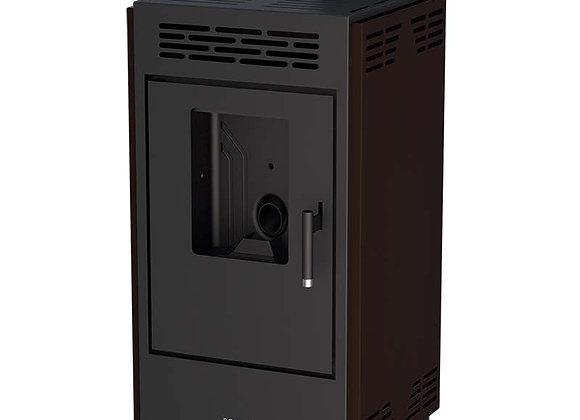Poêle à granulés 9kW Boreal 9 - CE17933 avec jeu de côtés marrons
