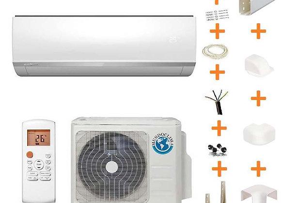Climatiseur réversible Mundo Clima 09-H7 gaz R32 2.5 kW + kit goulottes