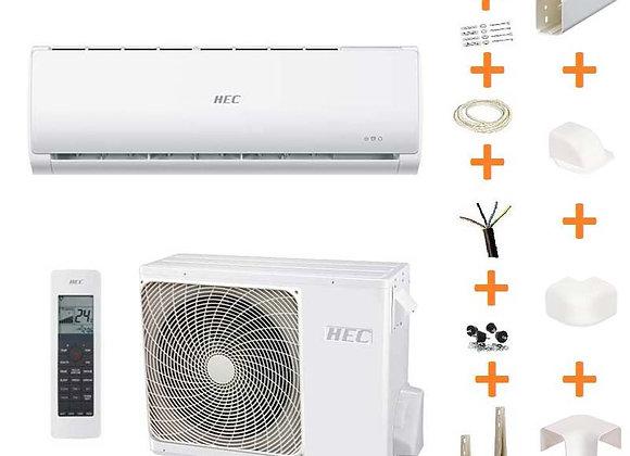 Climatiseur réversible HEC 2.5 kW + kit goulottes