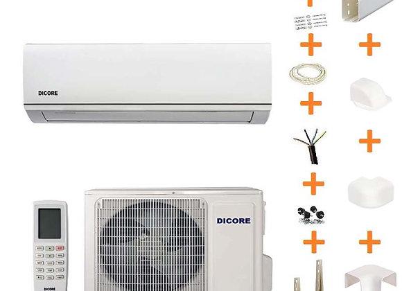 Climatiseur réversible Dicore 6.1 kW gaz R32 + kit goulottes