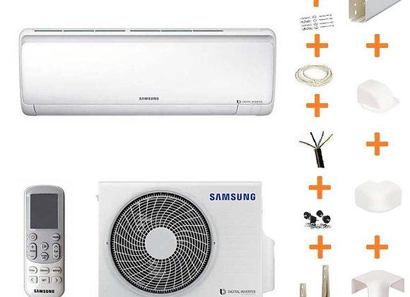 Climatiseur réversible Samsung F-N5412 gaz R32 3.5 kW + kit goulottes