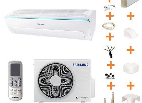 Climatiseur réversible Samsung F-N-6112 gaz R32 3.5 kW + kit goulottes