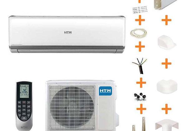 Climatiseur réversible HTW IX90 gaz R32 3.5 kW + kit goulottes