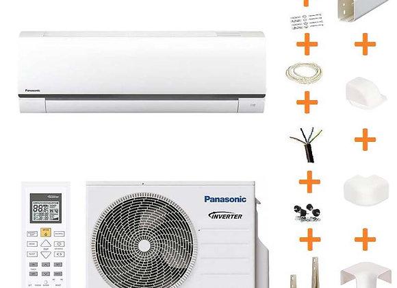 Climatiseur réversible Panasonic FZ25-UKE gaz R32 2.5 kW + kit goulottes