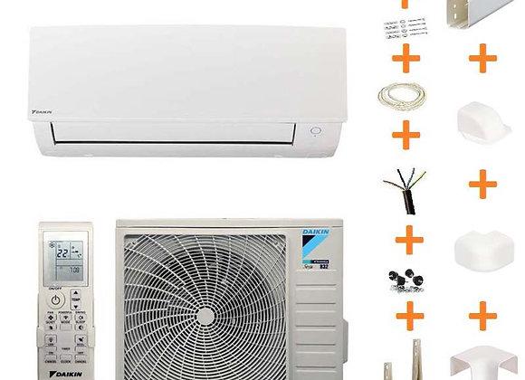 Climatiseur réversible Daikin Sensira TXC60B gaz R32 6.4 kW + kit goulottes