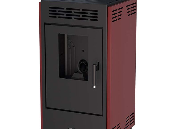 Poêle à granulés 9kW Boreal 9 - CE17933 avec jeu de côtés bordeaux