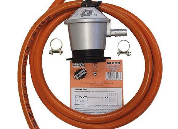 Kit de tuyau butane 1,5m + détendeur MT03018