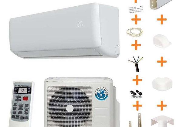 Climatiseur réversible Mundo Clima 09-H9A gaz R32 2.5 kW + kit goulottes