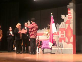 3年の鈴木崇允がインドネシア語スピーチコンテストで最優秀賞になりました。