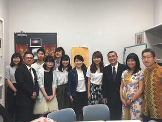 インドネシア外務省のBambamg氏と大使館の参事官2名が中央大学を訪問されました。