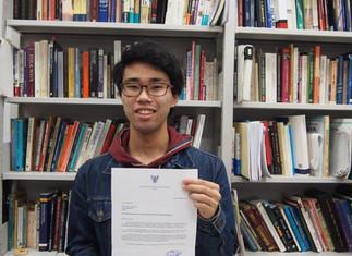 4年生鈴木崇允さん「インドネシア文化芸術奨学金プログラム」日本代表に