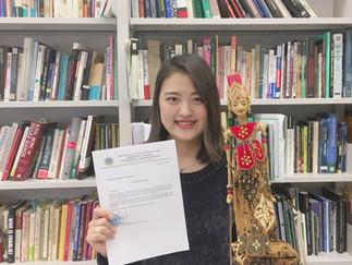 3年生守矢優衣さんが「インドネシア文化・芸術奨学金プログラム」日本代表に選出