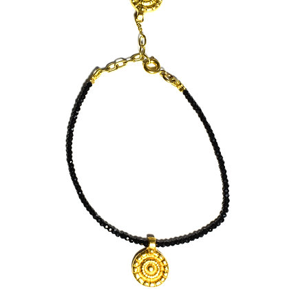 Bundi Bracelet ; Black spinel