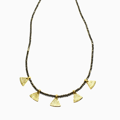 Bundi Necklace ; Pyrite