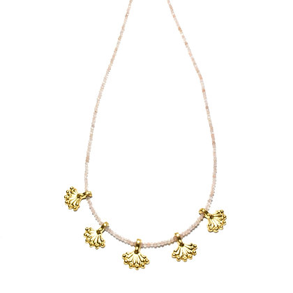 Bundi Necklace ; Rose Quartz