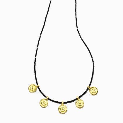 Bundi Necklace ; BlackSpinel