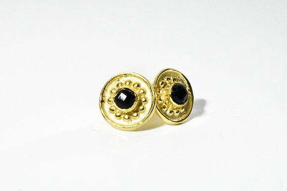 Barb earrings ; black onyx