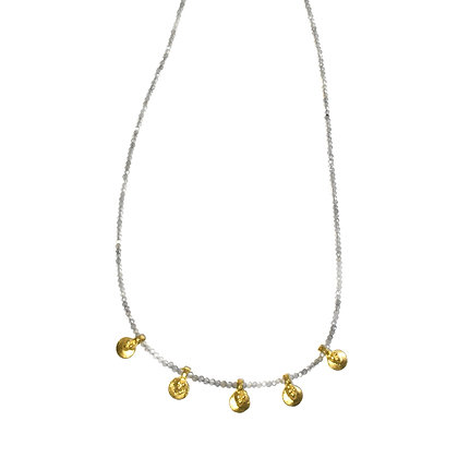 Bundi Necklace ; Labradorite