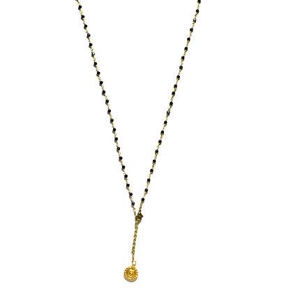 Mani Necklace ; Black Spinel