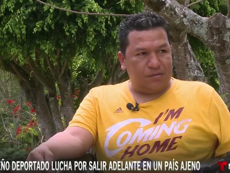 Hondureño deportado, lucha por salir adelante en país ajeno