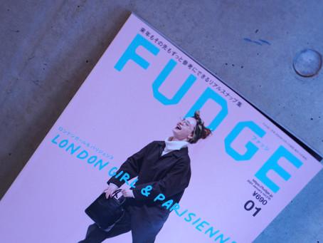 雑誌「FUDGE」さんにオリジナルトートバッグをご紹介いただきました。