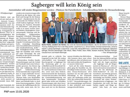 Sagberger will kein König sein