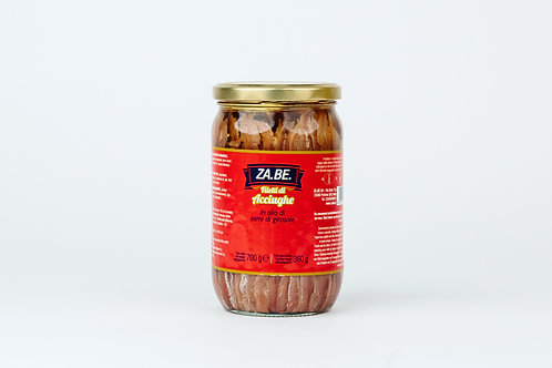 Zabe,Anchovie Fillets 700gr In Sunflower Oil